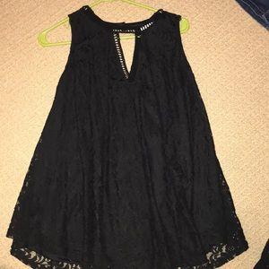 Black lace tank top